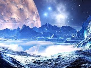 Собирать пазл Отражение в космосе онлайн