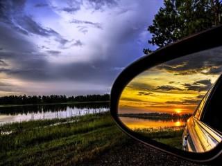 Собирать пазл Отражение заката онлайн