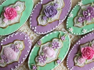 Собирать пазл Овальное печенье онлайн