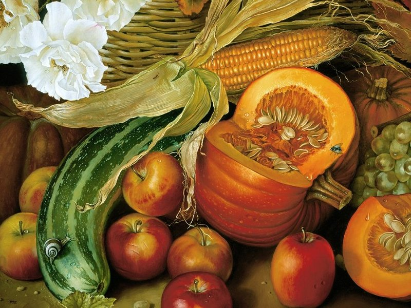 Пазл Собирать пазлы онлайн - Овощи и фрукты