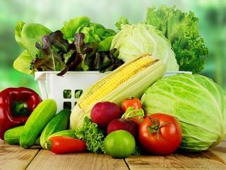 Собирать пазл Овощи и салат онлайн