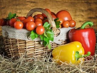 Собирать пазл Овощная корзинка онлайн