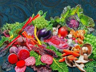 Собирать пазл Овощное изобилие онлайн