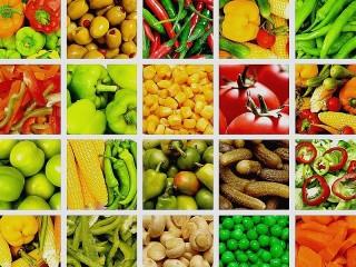 Собирать пазл Овощной коллаж онлайн