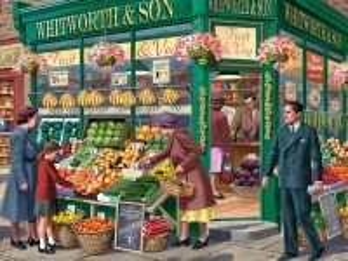 Собирать пазл Овощной магазин онлайн