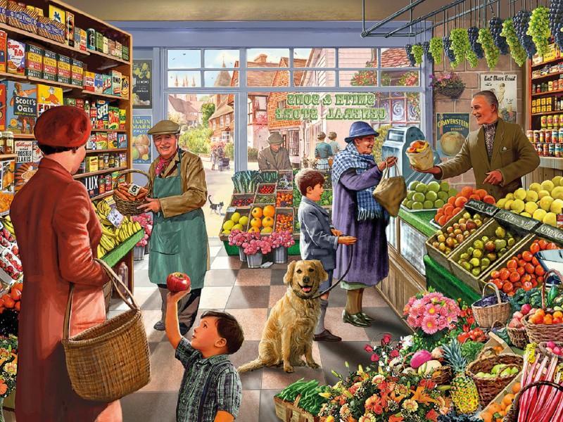 Пазл Собирать пазлы онлайн - Овощной магазин