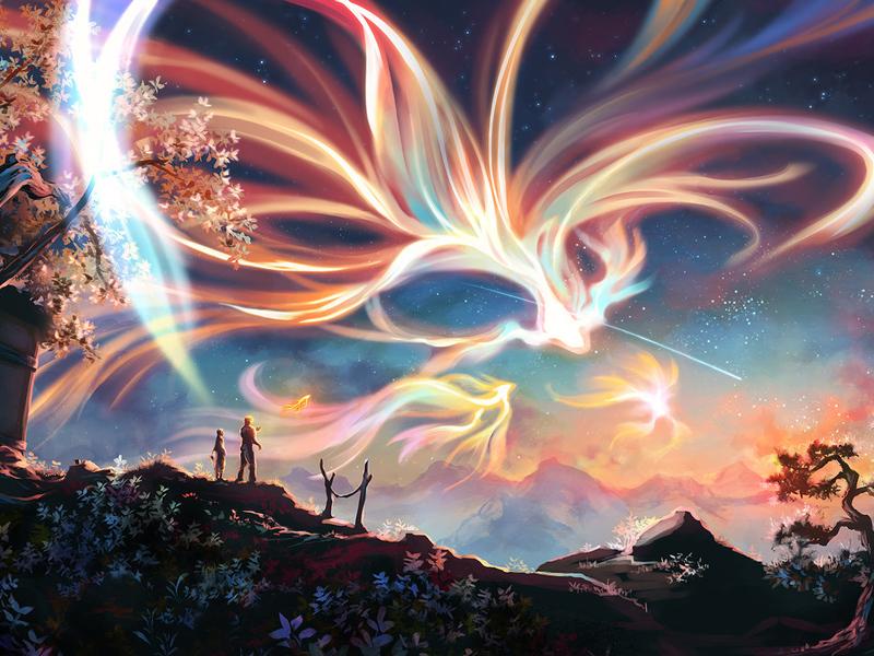 Пазл Собирать пазлы онлайн - Озаряющие небо