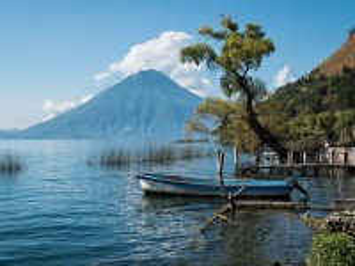Собирать пазл Озеро Атитлан онлайн