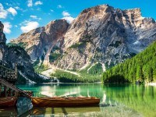 Собирать пазл Озеро Браес онлайн