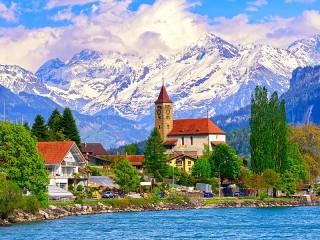 Собирать пазл Озеро Бриенц онлайн