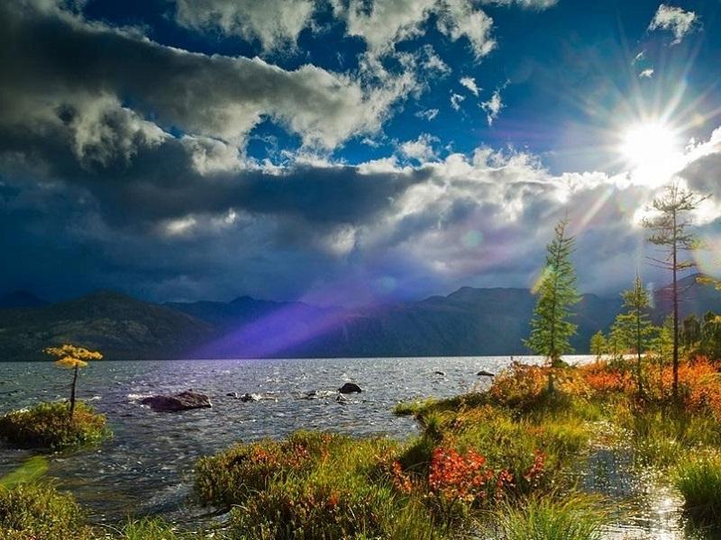 Пазл Собирать пазлы онлайн - Озеро Джека Лондона