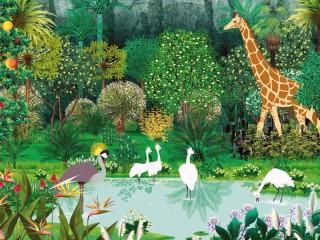 Собирать пазл Озеро и джунгли онлайн