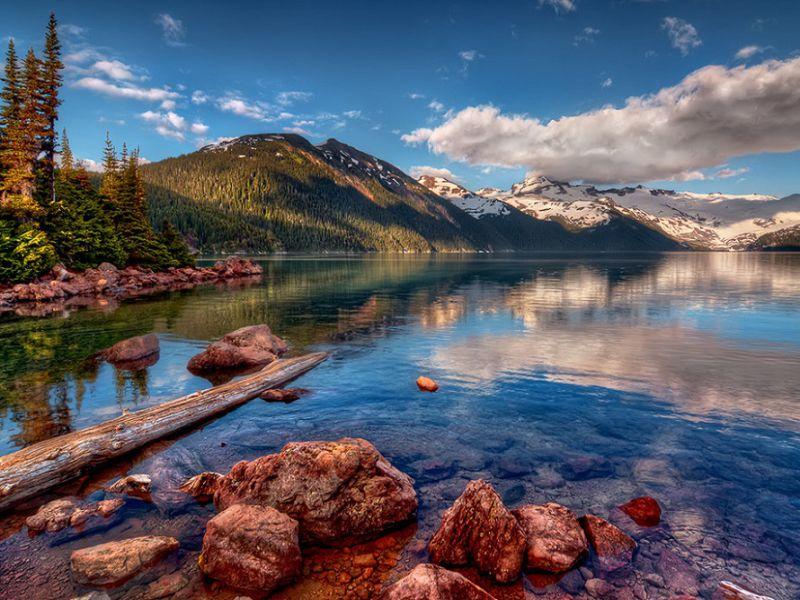 Пазл Собирать пазлы онлайн - Озеро Гарибальди