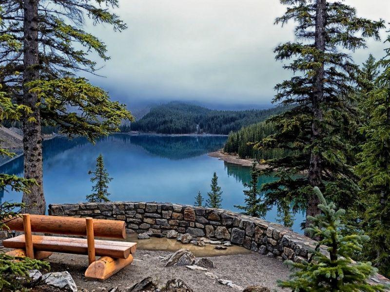 Пазл Собирать пазлы онлайн - Озеро лес
