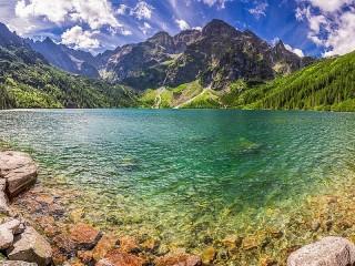 Собирать пазл Озеро Морске-Око онлайн