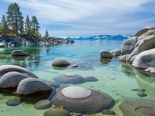 Собирать пазл Озеро Тахо онлайн