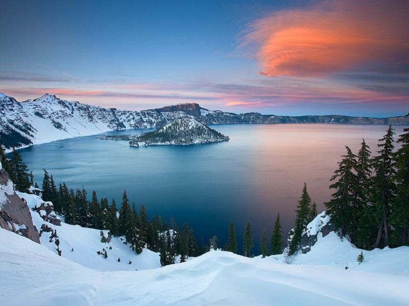 Пазл Собирать пазлы онлайн - Озеро зимой
