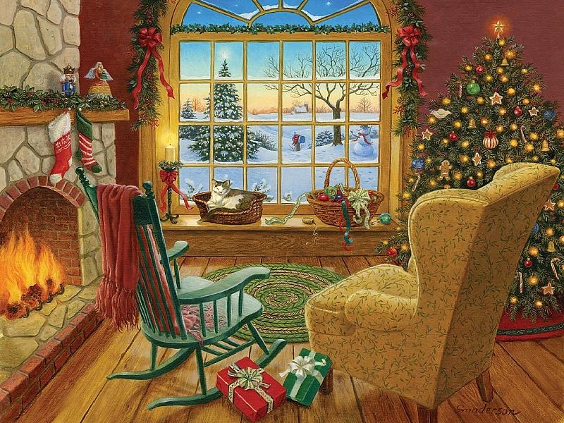Пазл Собирать пазлы онлайн - Праздничный уют