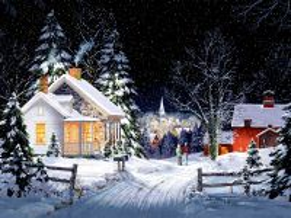 Собирать пазл Падает  снег онлайн