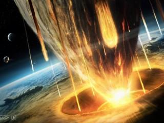 Собирать пазл Падение астероида онлайн