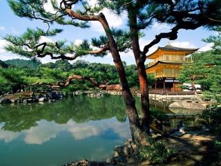 Собирать пазл Пагода на воде онлайн