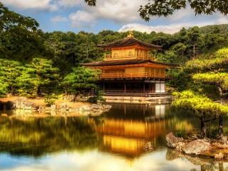 Собирать пазл Пагода в Киото онлайн