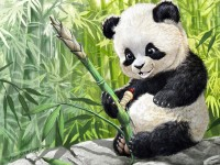 Собирать пазл Панда и гусеница онлайн