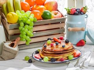 Собирать пазл Панкейки с ягодами онлайн