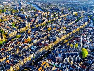 Собирать пазл Панорама Амстердама онлайн