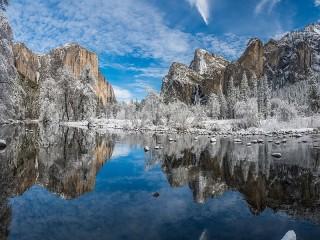 Собирать пазл Панорама Йосемити онлайн