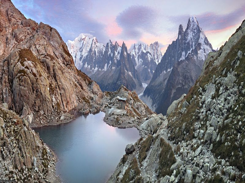 Пазл Собирать пазлы онлайн - Панорама в горах