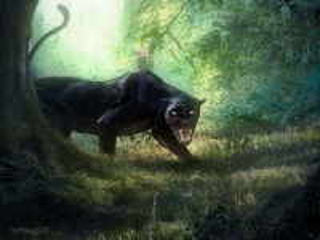 Собирать пазл Пантера в лесу онлайн