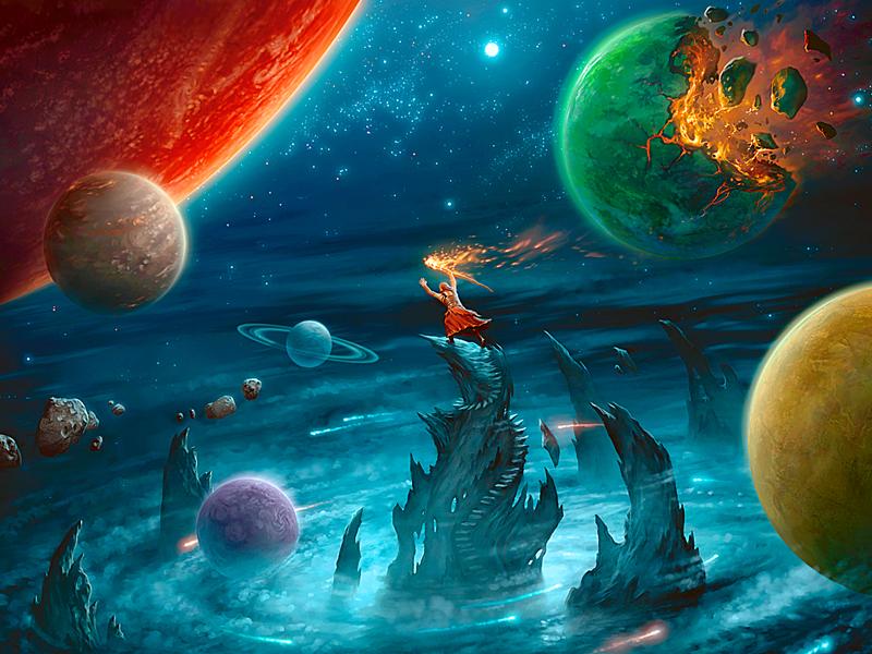Пазл Собирать пазлы онлайн - Парад планет