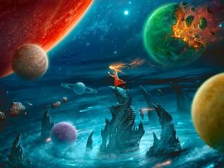 Собирать пазл Парад планет онлайн