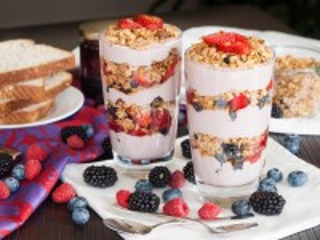 Собирать пазл Парфе с йогуртом онлайн