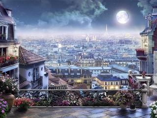 Собирать пазл Париж ночью онлайн