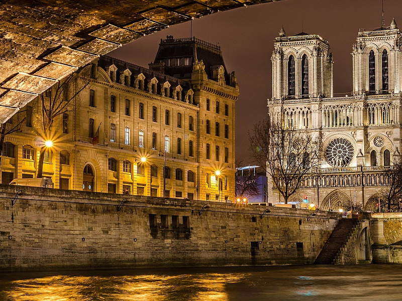 Пазл Собирать пазлы онлайн - Парижская ночь