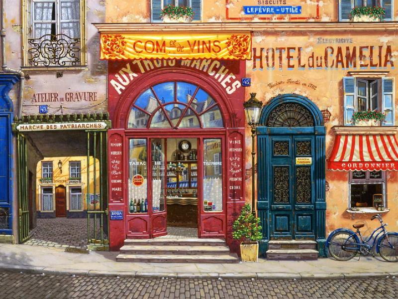 Пазл Собирать пазлы онлайн - Парижская улица