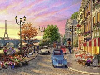 Собирать пазл Парижская улица онлайн
