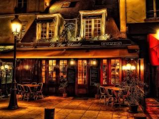Собирать пазл Парижское кафе онлайн