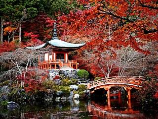 Собирать пазл Парк в Киото онлайн