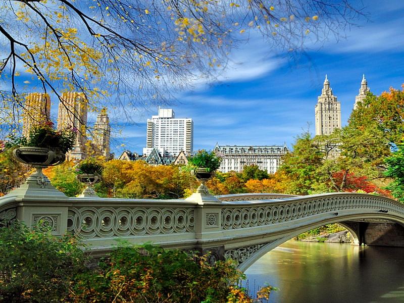 Пазл Собирать пазлы онлайн - Парк в Нью-Йорке