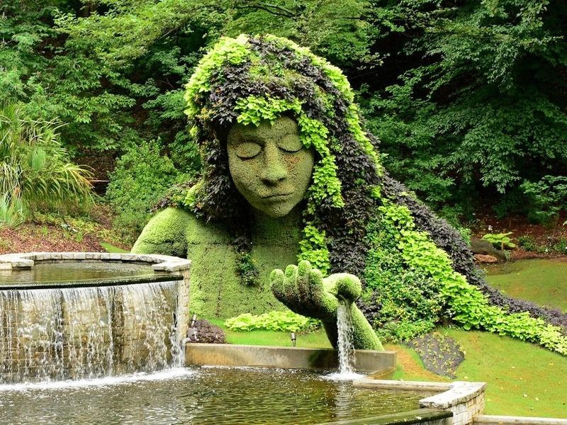 Пазл Собирать пазлы онлайн - Парковая скульптура