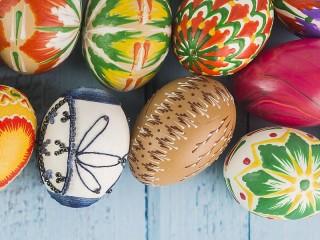 Собирать пазл Пасхальные яйца онлайн