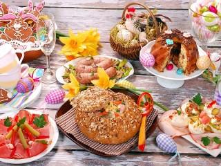 Собирать пазл Пасхальный пир онлайн
