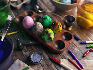 Собирать пазл Пасхальное искусство онлайн