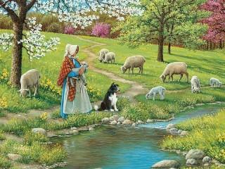 Собирать пазл Пастушка онлайн