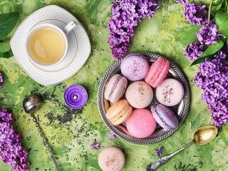 Собирать пазл Печенье и цветы онлайн