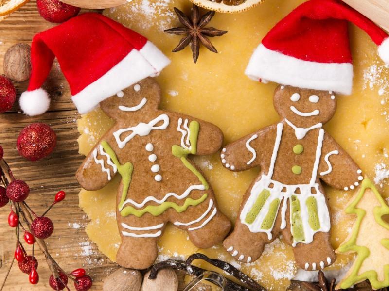 Пазл Собирать пазлы онлайн - Печенье к Рождеству