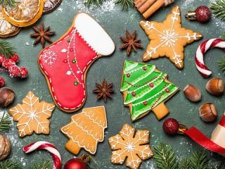 Собирать пазл Печенье к Рождеству онлайн